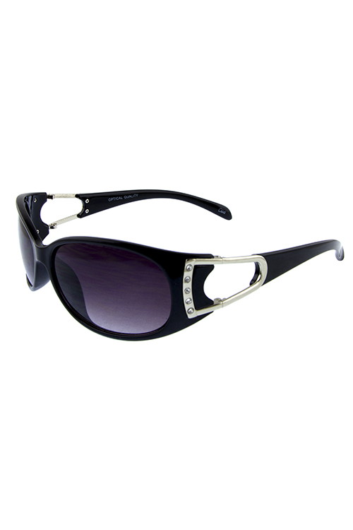 Womens wrap chic rhinestone fashion sunglasses