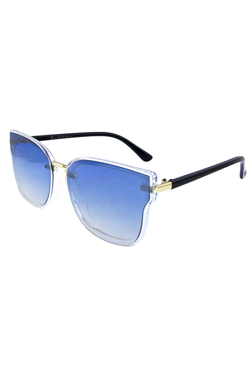 Womens flash butterfly plastic sunglasses