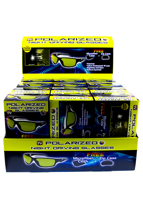 Unisex polarized night driving glasses