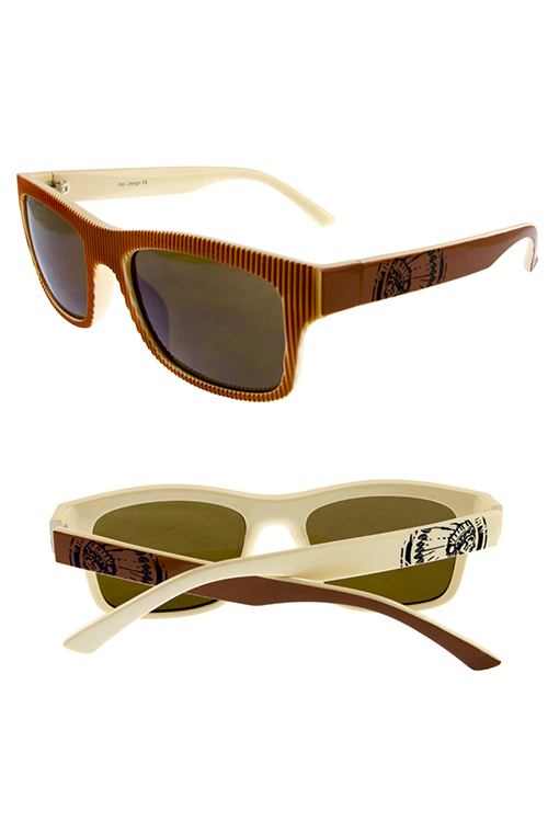 Womens cherokee striped plastic sunglasses