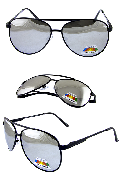 Mens polarized aviator eagle metal sunglasses