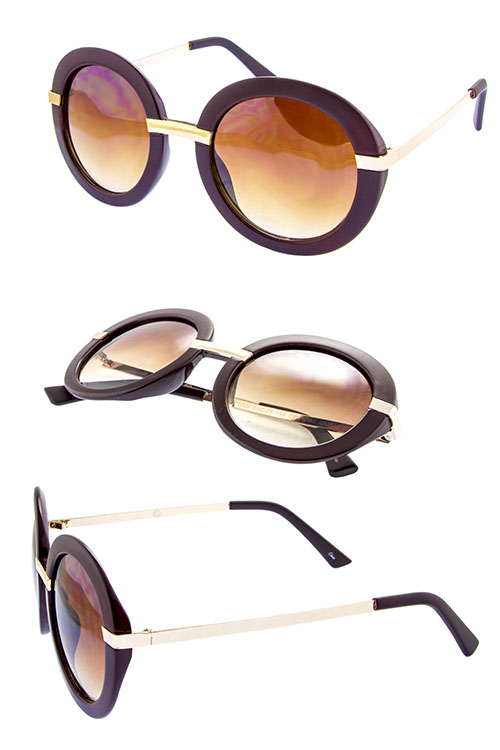 womens round retro blended sunglasses