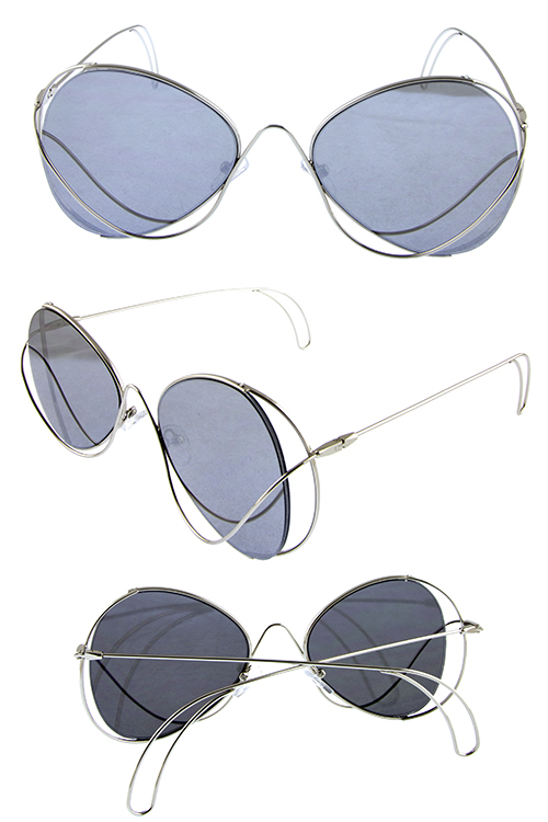 Womens metal buttefly coaster wire cut sunglasses