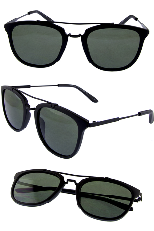Unisex turnaround horned aviator sunglasses