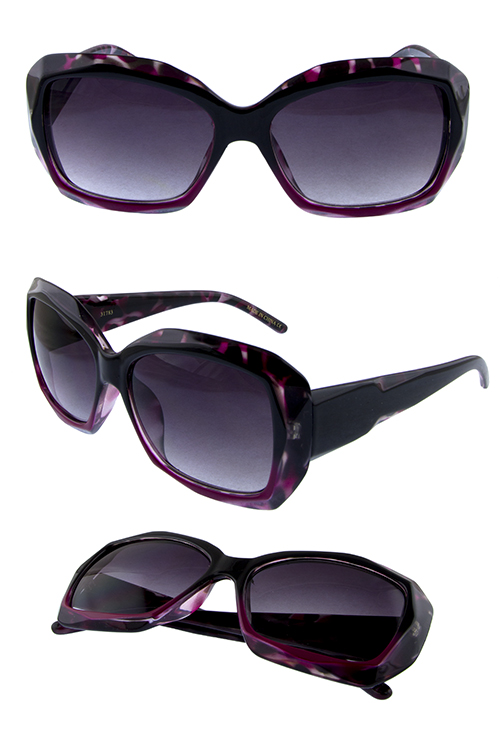 Womens classic plastic square shape sunglasses