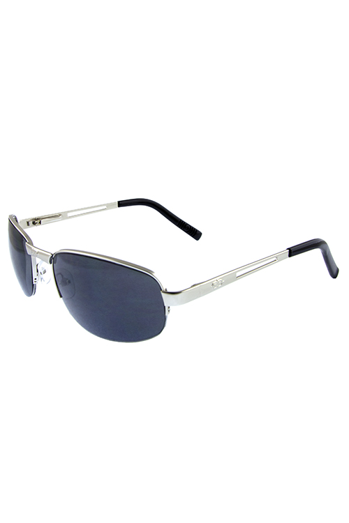 Mens sport metal fully rimmed square sunglasses