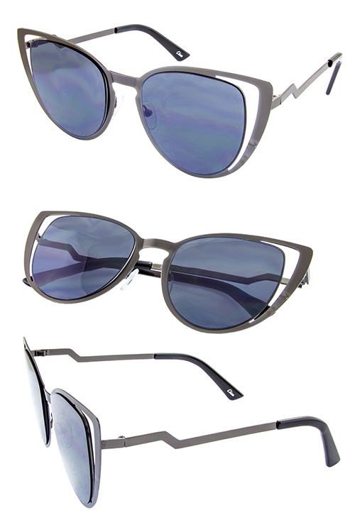 cutout womens metal high pointed fashion sunglases