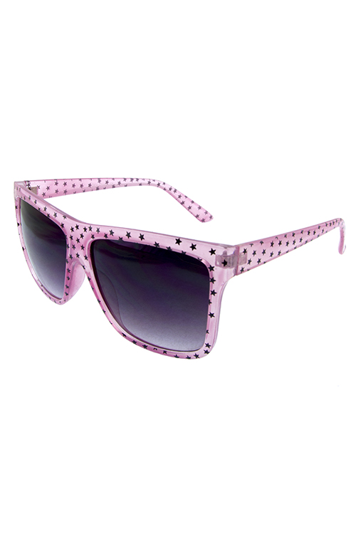 Womens star vintage plastic square sunglasses