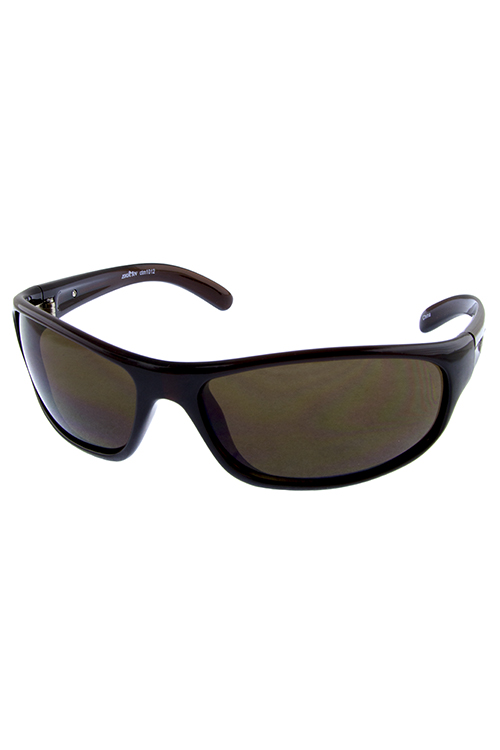 Mens freedom sport square plastic sunglasses