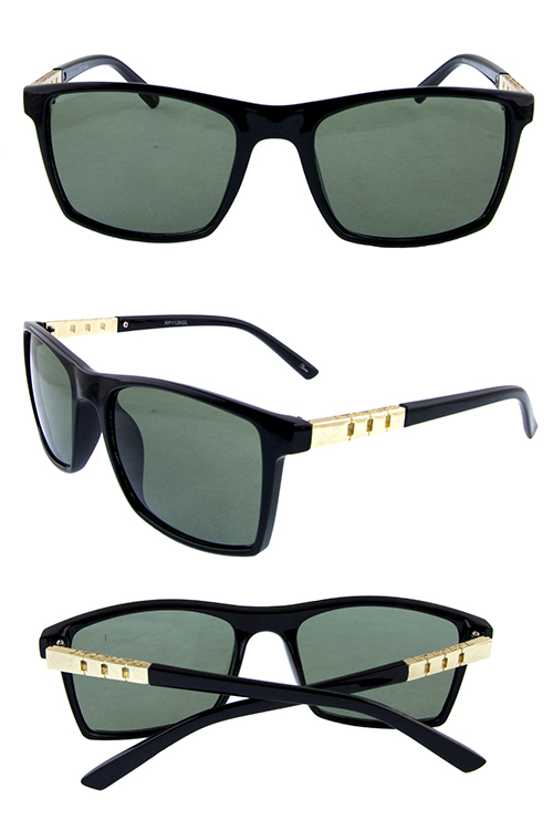 Unisex glass lens rim square retro sunglasses
