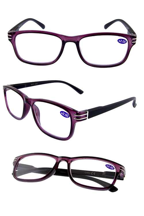 Simple plastic block style reading glasses