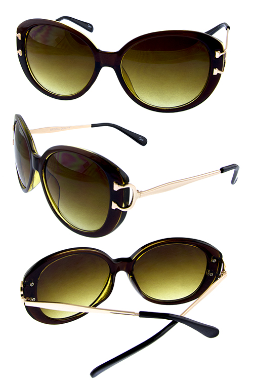 Womens blended classic square rounded sunglasses