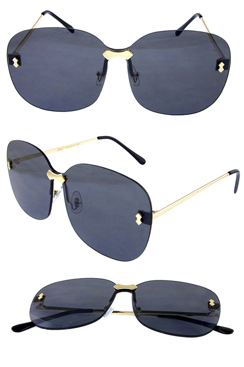 Womens rimless medley fashion square sunglasses