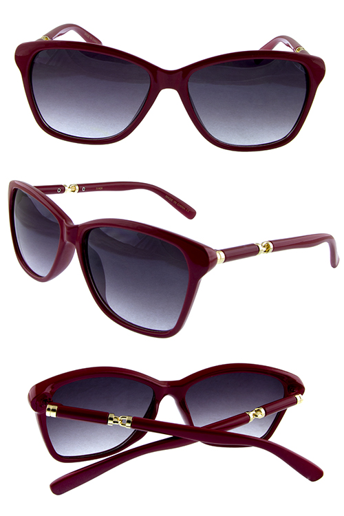 Womens angel square metal blended sunglasses