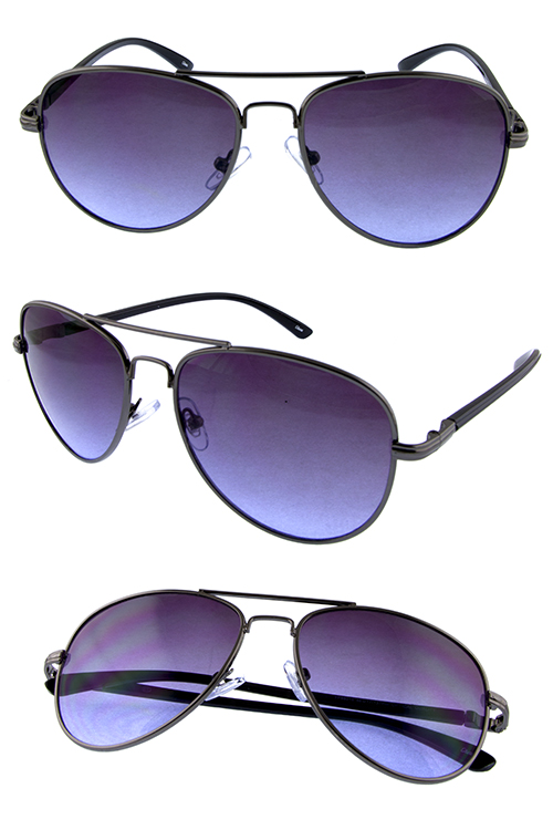 Womens metal aviator flight style sunglasses