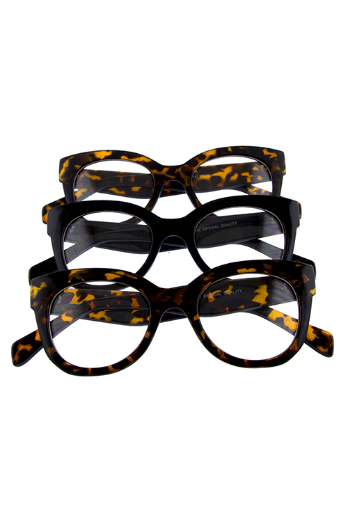 Womens clear lens square cat eye sunglasses