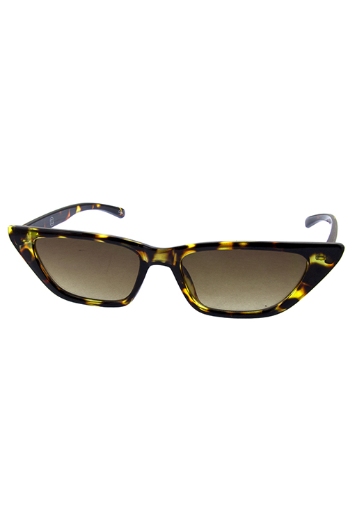 Womens cat eye plastic slim pointed sunglasses