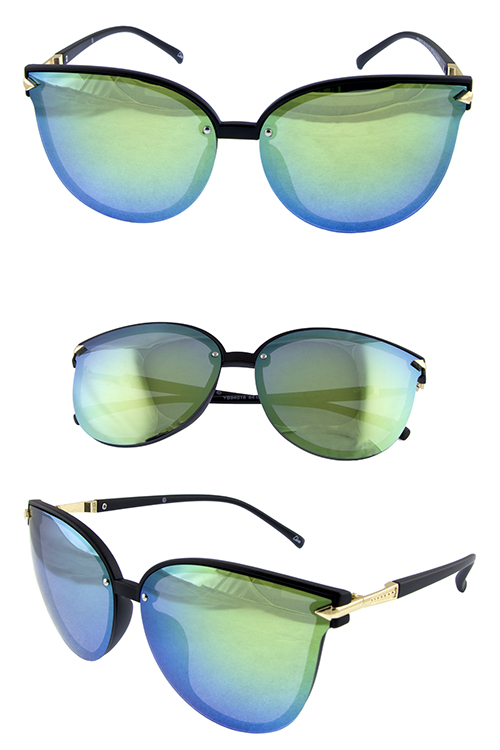 Womens butterfly square horned modern sunglasses