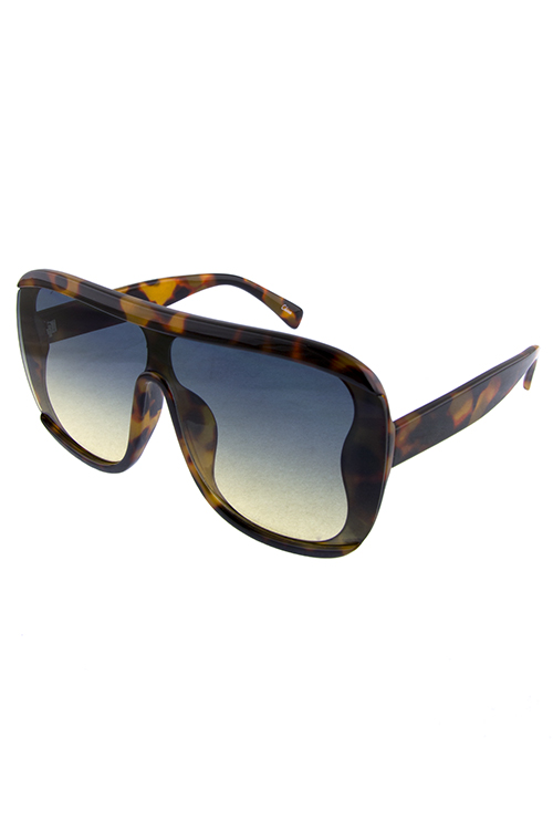 Womens funk square aviator plastic sunglasses
