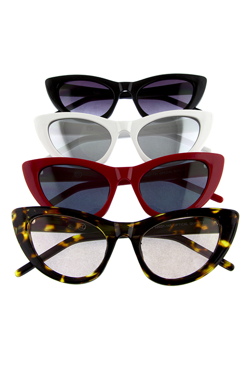 Womens cute plastic pointed cat eye sunglasses