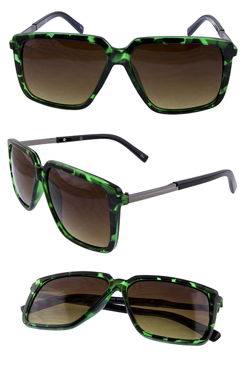 Womens square blended fashion sunglasses