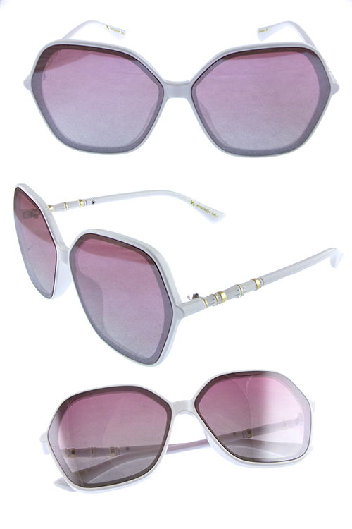 Womens square retro plastic fashion sunglasses