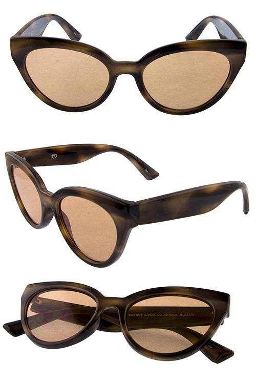 Womens plastic high pointed modern sunglasses