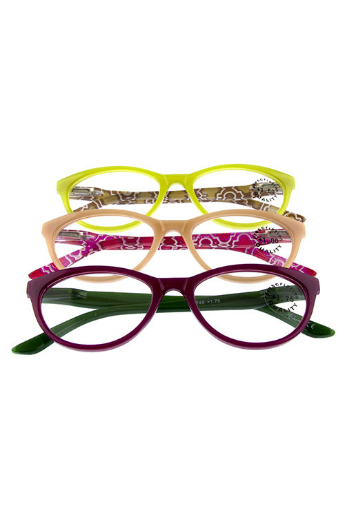 Plastic pointed square fashion Reader Glasses