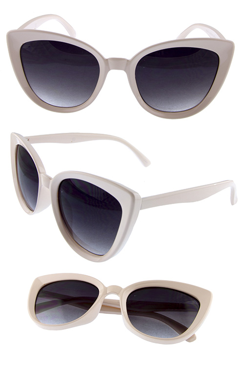 Womens Plastic high pointed sunglasses