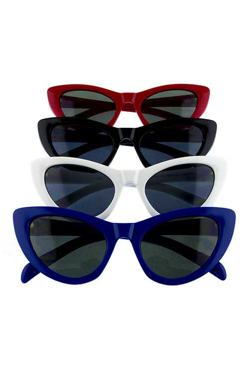 Womens plastic high pointed catty sunglasses