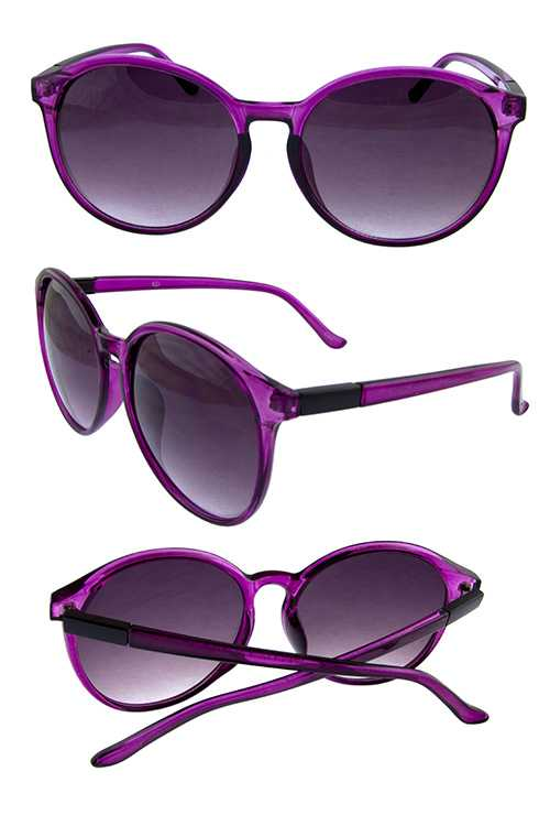 Womens rounded classic plastic fashion sunglasses