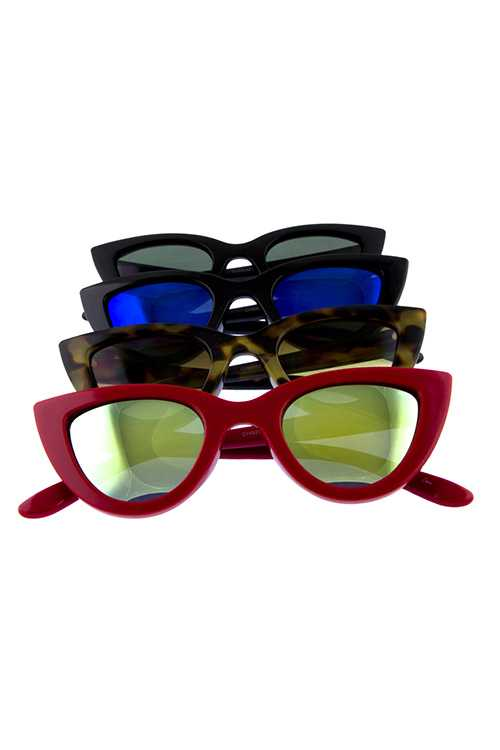 Womens cat eye modern plastic retro sunglasses