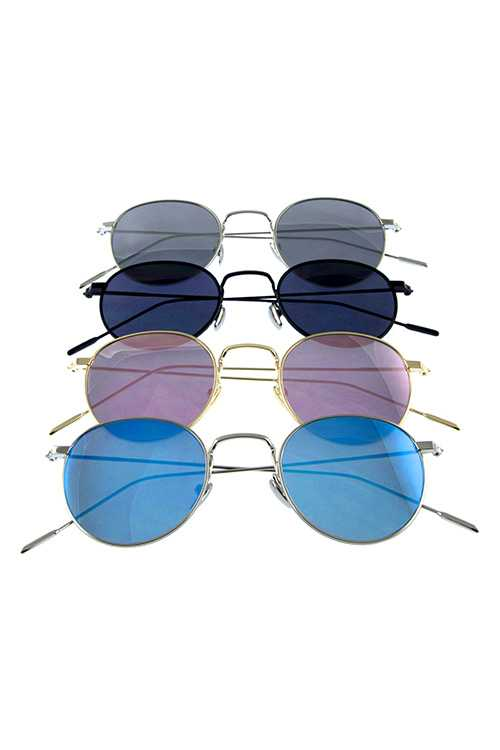 Womens metal modern square fashion sunglasses