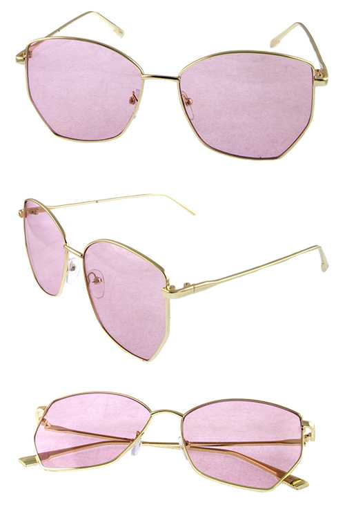 Womens metal square modern style sunglasses