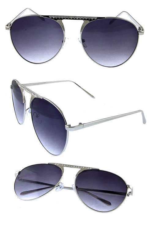 Womens metal aviator fashion sunglasses