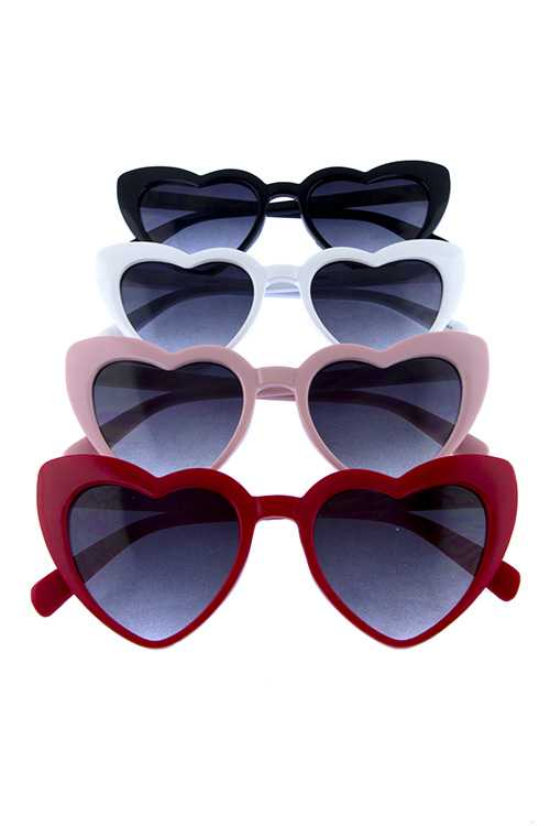 Womens high pointed cat eye heart sunglasses