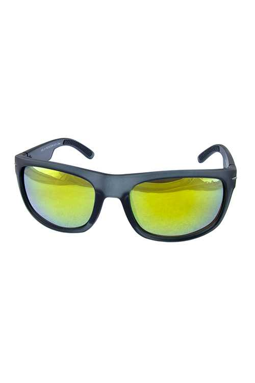 Mens plastic retro square plastic sunglasses