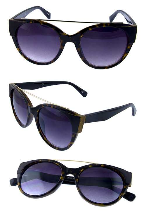 Womens high pointed plastic rebar sunglasses