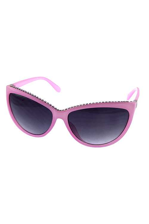 Womens plastic high pointed cat eye sunglasses