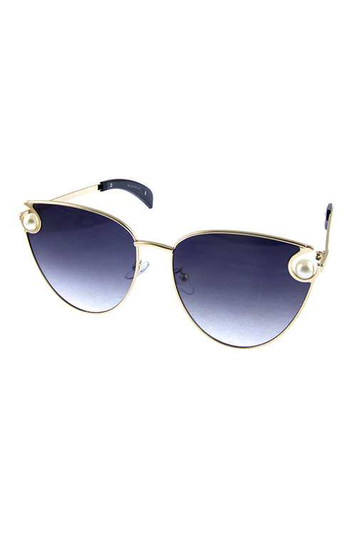 Womens cat eye metal classic fashion sunglasses