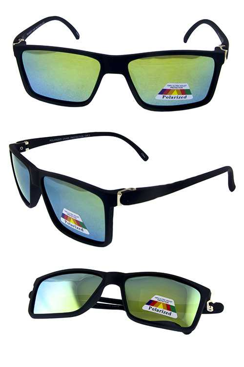 Mens square polarized modern retro sunglasses