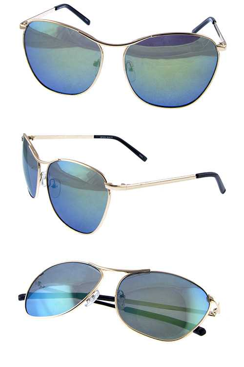 Womens square metal fashion retro sunglasses