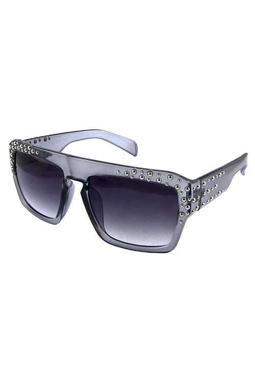 Womens punk retro square plastic sunglasses
