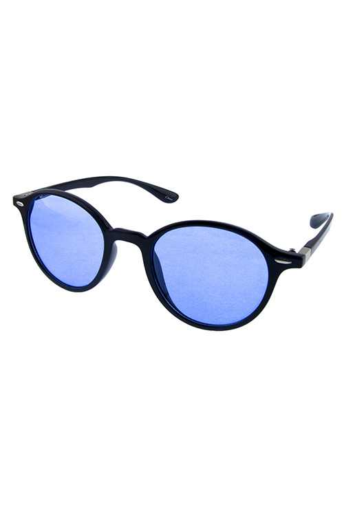 Womens dapper rounded fashion plastic sunglasses