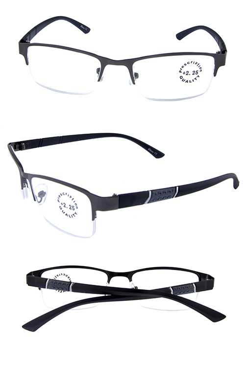 Rimless square style reading glasses