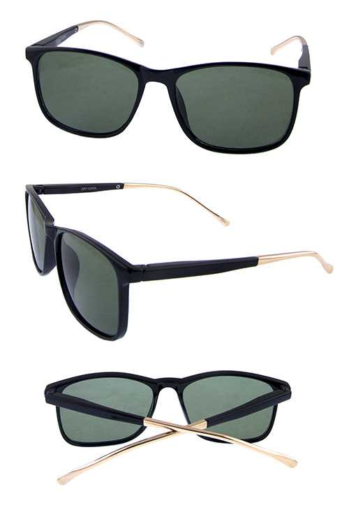 Unisex retro simple square classic sunglasses