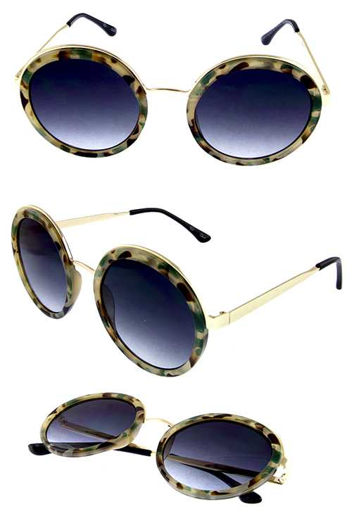 Womens rounded blended sunglasses