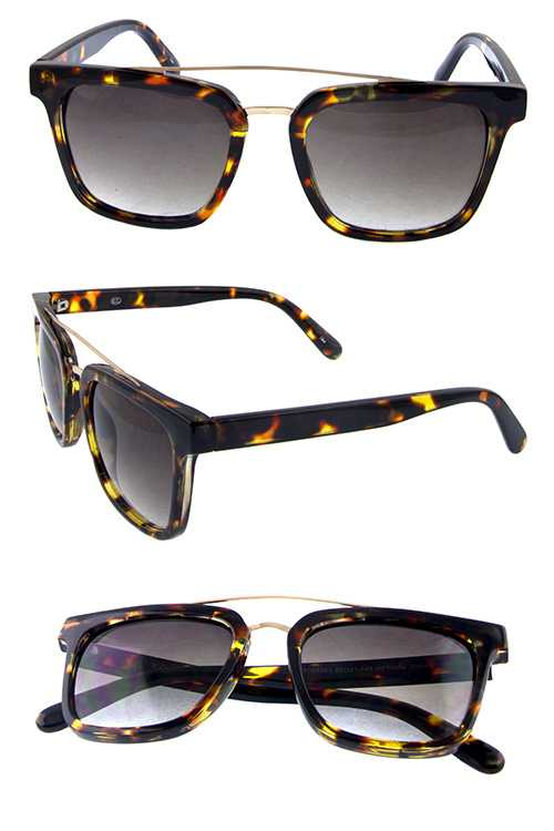 womens arc horned metal rebar detailed sunglasses