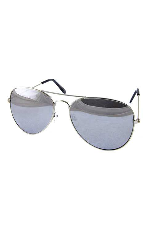 Unisex metal aviator style sunglasses