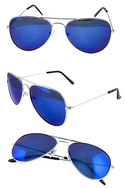 Unisex metal casual aviator fashion sunglasses
